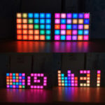 New Geekcreit® DIY Multi-function LED Cool Music Spectrum RGB Color Palette Clock Kit