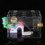 New Hamster Acrylic Cage Clear 1 Layer Mice Mouse Castle Rat House Toy Pet Bed Kids Gift