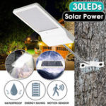 New 30 LED Solar Power Motion Sensor IP65 Waterproof Garden Yard Street Light Lamp Solar Garden Light