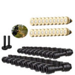 New 1/4″ Brass Low Pressure Misting Nozzle Quick Plug Socket Plug Spray Set Outdoor Garden Water Spray Atomization Irrigation Fittings With Tees Pipe