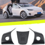 New Wheel Steering Panel Covers Trim Carbon Fiber For Tesla Model 3 2017-2019