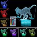 New 3D Dinosaur Night Light Touch Remmote Control Home Decor Lamp Table Desk Gift