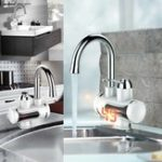 New 360° Electric Faucet 3s Fast Instant Heater Tap Kitchen Bathroom Hot Cold Tap