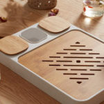 New CHENGSHE Bamboo Kung Fu Tea Set Water Storage Tea Tray from xiaomi youpin