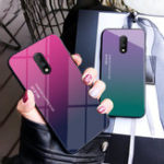 New Bakeey Gradient Color Shockproof Tempered Glass Protective Case for OnePlus 7 / OnePlus 6T
