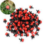 New 100Pcs Adjustable Micro Drip Irrigation Watering Emitter Drippers 2.5 x 1.5cm