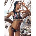 New Floral Embroidery Bikini