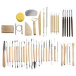 New 45PCS Clay Pottery Shaper Carving Blade Modelling Ceramic Sculpture Tools Kit