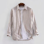 New Mens Stripe 100% Cotton Long Sleeve Autumn Casual Shirts