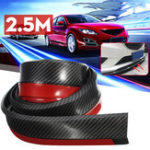 New 2.5M Car Front Bumper Lip Protector Carbon Fiber Spoiler Decorative Strip