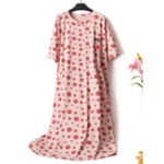 New Plus Size Print Nightgown