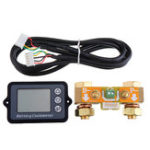 New DC8-80V 350A Coulomb Meter Battery Capacity Indicator Coulometer Power Level Display Professional Lithium Battery Tester With 1M Shielded Wire