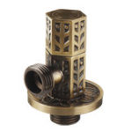 New Antique Brass Triangle Valve Bathroom Accessory G1/2 Brass Angle Stop Valve Filling Valve Hexagonal Column Type