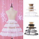 New Lady Hoop Cage Skirt Pannier Bustle Crinoline Petticoat Underskirt Dress Costume