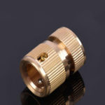 """New 3/4"""" Solid Brass Female Garden Hose Quick Connector Flexible Car Wash Connect Adapter Garden Hose Fittings Connection with Nozzle"""