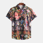 New Mens Summer Pattern Printing Vintage Shirts