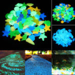 New 80Pcs Luminous Artificial Stone Aquarium Fish Tank Decorations Accessories Marine Animals Ornament