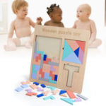 New Baby Wooden Tetris Puzzles Toys Kids Children Toddlers Educational Preschool Game Blocks Toys