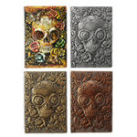 New Vintage Pelief PU Halloween A5 Notebook Notepad Paper Journal Diary Book Gift