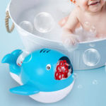 New Whale/Submarine Bubble Blower Machine Musical Bubble Maker Bath Baby Toy Shower Fun