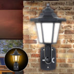 New Solar Power LED Light Path Way Wall Landscape Mount Outdoor Garden Fence Lamp