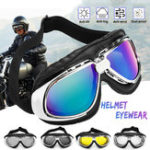 New Anti UV Motorcycle Goggles Glasses Vintage Motorbike UV Protection Helmet Eyewear
