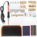 New 92pcs Wood Burning Pen Set Tips Stencil Soldering Iron Pyrography Tools Crafts Kit