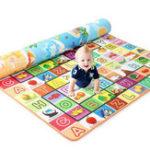 New 3 Size Baby Kids Floor Play Mat Rug Picnic Cushion Crawling Mat Pad Waterproof