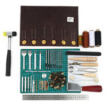 New 69PCS Leather Craft Tools Punch Kit Stitching Carving Working Sewing Groover