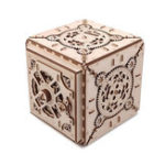 New 3D Antique Self-Assembly Wooden Password Box Saving Money Storage Laser Cut Parts Puzzle Building Kits Mechanical Model DIY Gift Decorations