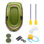 New 2 Person Inflatable Boat Kayak Rubber Boat With Oars Pump Ropes