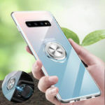 New Bakeey Clear Ring Grip Stand Magnetic Adsorption Protective Case For Samsung Galaxy S10