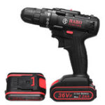 New 36V Electric Cordless Drill Screwdriver Dual Speed 25 Torque LED with Li-ion Battery