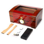 New Wood Box Cedar Lined Humidor Humidifier Hygrometer Storage Case