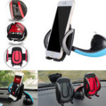 New Plastic Car Phone Holder GPS Accessories Suction Cup Retractable Mount Stand