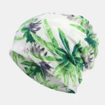 New Women Cotton Multi-purpose Flower Printing Beanie Cap