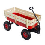 New Outdoor Cart All Terrain Pulling Wood Railing Air Tires Children Kid Garden Camping Tool