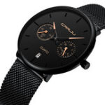 New CRRJU 2162 Fashion 24hours  Calendar Men Quartz Watch