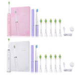 New i2care Electric Sonic Toothbrush Set Li-Ion Battery Recharge