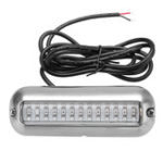 New 3.5 inch  LED Underwater Lights Marine Boat 27 Green Pontoon Transom Stainless Steel