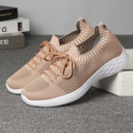 New Women Casual Mesh Knitted  Decoration Running Sneakers
