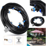 New 18M+3M Outdoor Mist Coolant System Water Sprinkler Garden Patio Mister Cooling Spray Kits Micro Irrigation Set With 27 Spray Nozzles