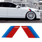 New A Pair 17*24cm Car Side Fender Stickers Decals Auto Body Decorative For BMW E90 E60 F30 F10 F07 F34 X1 X3 X4 X5 E70 X6 M2 M3 M5