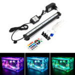 New NovSight LED RGB Aquarium Light 28cm 16 Color RF Remote Control Waterproof Fish Tank Underwater Lamp