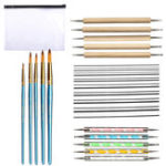 New 24pcs Mandala Dotting Tools Rock Painting Kit Dot nail Art Pen Paint Stencil