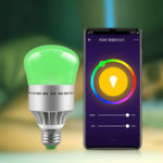 New AC100-264V E27 9W RGBW RGBCW WIFI Smart LED Light Bulb Work With Voice Control for Home Living Room Table Lamp