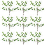 New Artificial Leaf Eucalyptus Silk Green Plant Garland Home Wedding Decor Supplies
