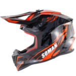 New SOMAN ECE Motocross Full Face Protective Safety Adult Motorcycle Off-road Helmet Flip Up Sun Shield Cover SM633