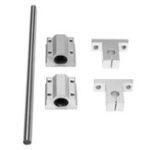 New 8mm Shaft Optical Linear Rail 300/400/600mm Length  SCS8UU/SK8 Guide Support CNC Set
