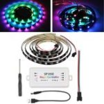 New DC5-24V SP105E 200 Modes 1M 2M WS2812B Phone APP Bluetooth Waterproof  Magic Color RGB LED Strip Light Set